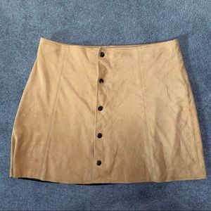 Tan Suede Skirt Size M